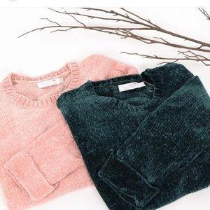 Sweaters - 🚨SALE//The Luna// Mauve chenille sweater
